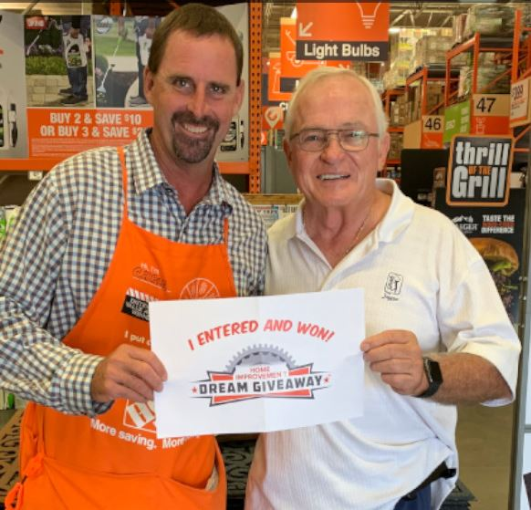 Steve Smith knew exactly what to do with his $10K Home Depot Gift Card he won!