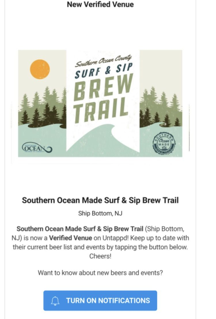 Southern Ocean Chamber's brew trail a now on Untappd