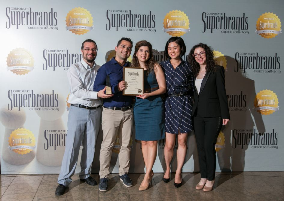 ContactPigeon team at Superbrands Greece awards ceremony.