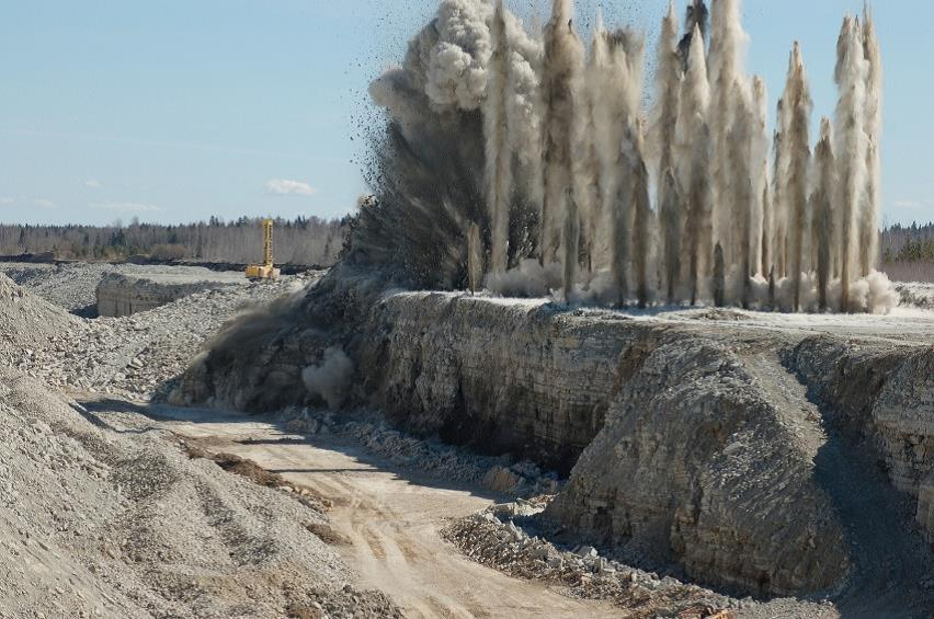Explosion in mine