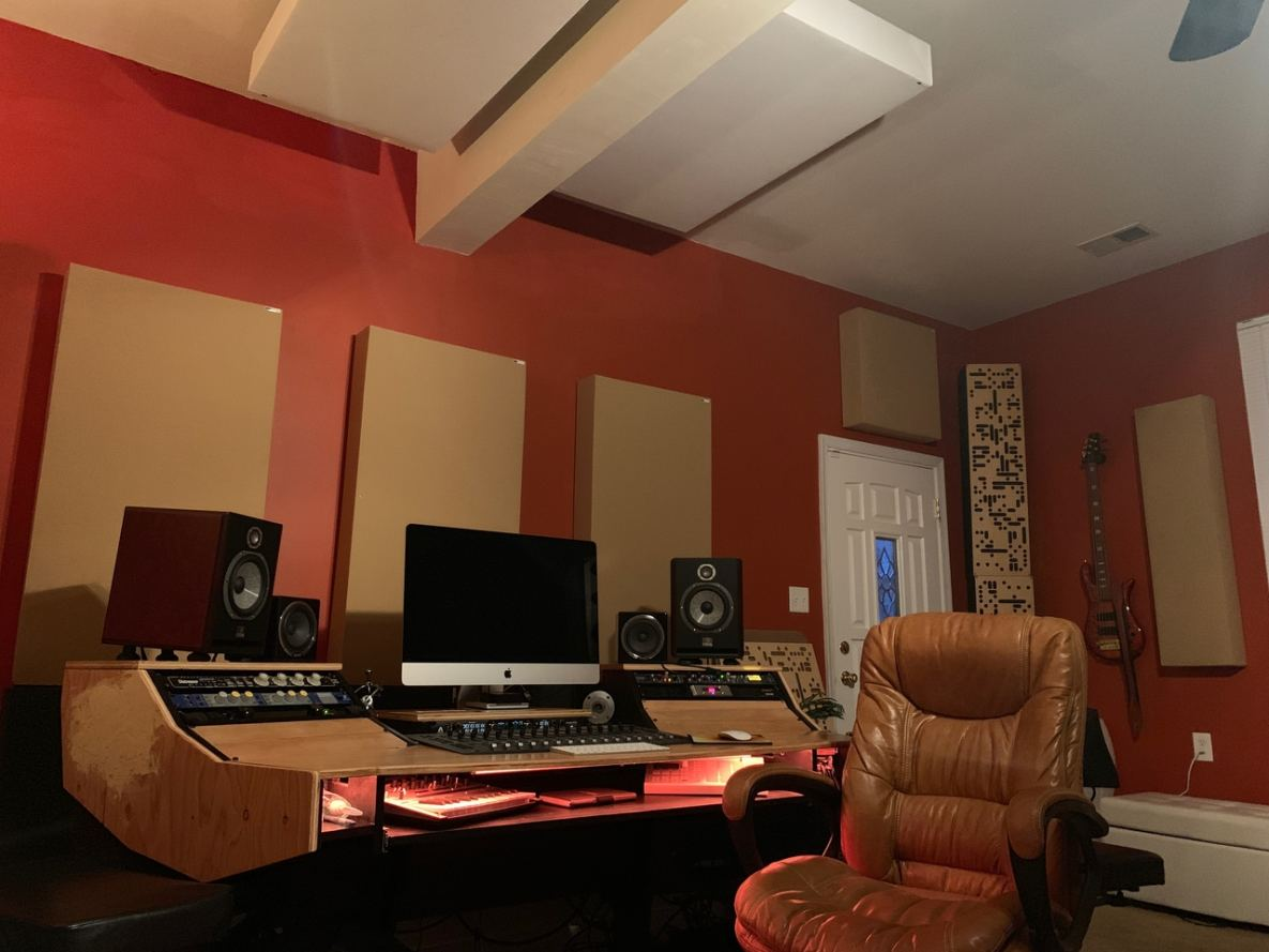 A glimpse of BAMM Studios newest recording space upgrades.