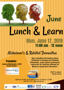 June 2019 Lunch & Learn - Alzheimer's and Related Dementias