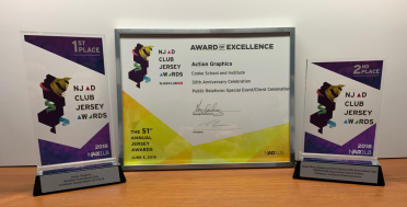 Action Graphics took home three awards at the NJ Ad Club's 51st Jersey Awards.
