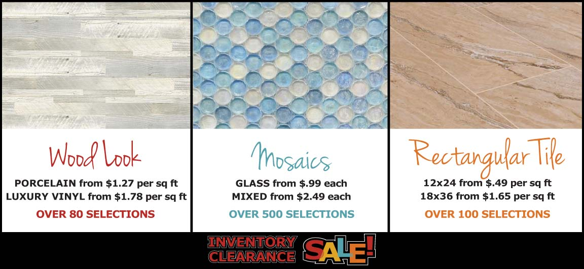 Big Savings During Tile Outlets of America Inventory Clearance Sale