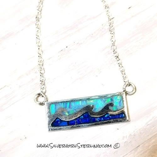 NEW Opal Wave Necklace