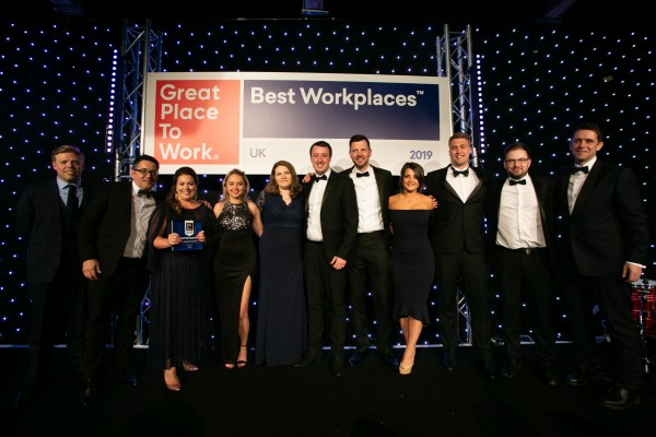 The McCarthy Recruitment team at the UK awards night