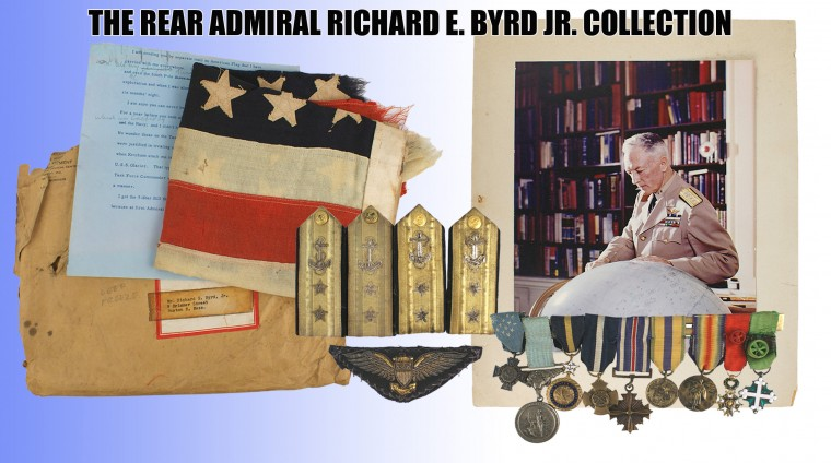 Headlining the auction are the personal possessions of Admiral Richard E. Byrd.