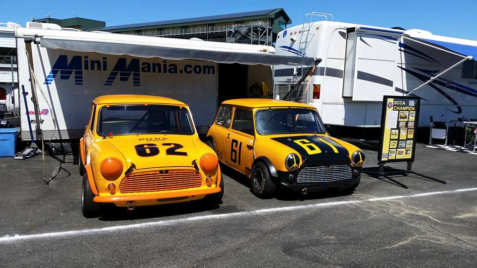 The Father/Son Racine team are driving the former Unsbee championship Minis.
