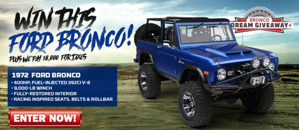 The Bronco Dream Giveaway starts today!