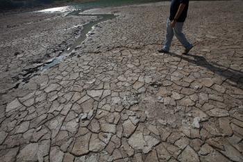 A dry lagoon bed in Alegría, Usulután, El Salvador