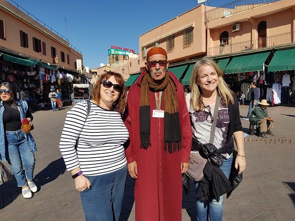 Enjoy a guided walking tour of Marrakech