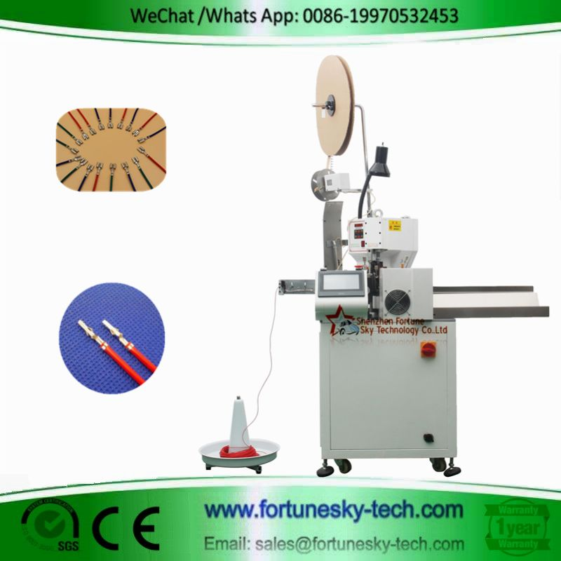 fully automatic single end wire crimping machine0