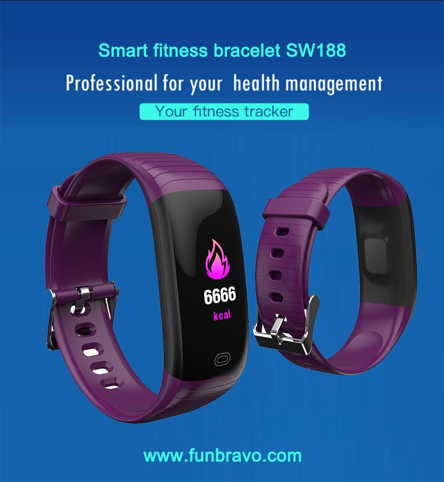 Funbravo IP67 Smart Bracelet Fitness Tracker SW188 for Men Women Kids