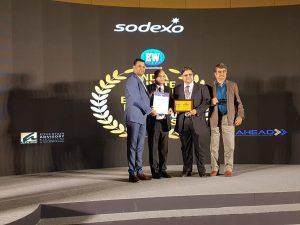 Shri P.K.Agarwal & Dr. P.Chaudhuri receiving the award