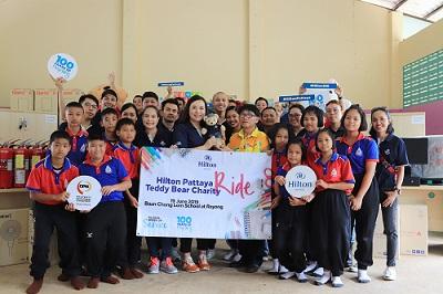 Hilton Pattaya Organizes Teddy Bear Charity Ride 2019