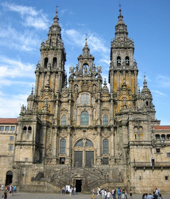 Cathedral Santiago de Compostela, which contains tomb of St. James