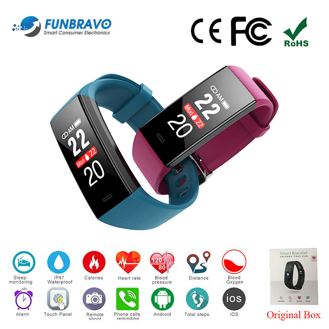 Chinese Factory IP67 Smart Fitness Tracker Bracelet Heart Rate Monitor SW198