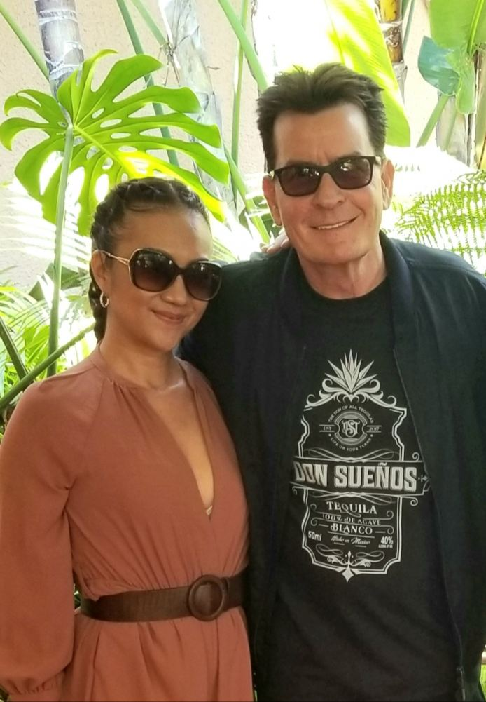 Don Sueños Tequila owners Kumiko Zimmerman and Charlie Sheen