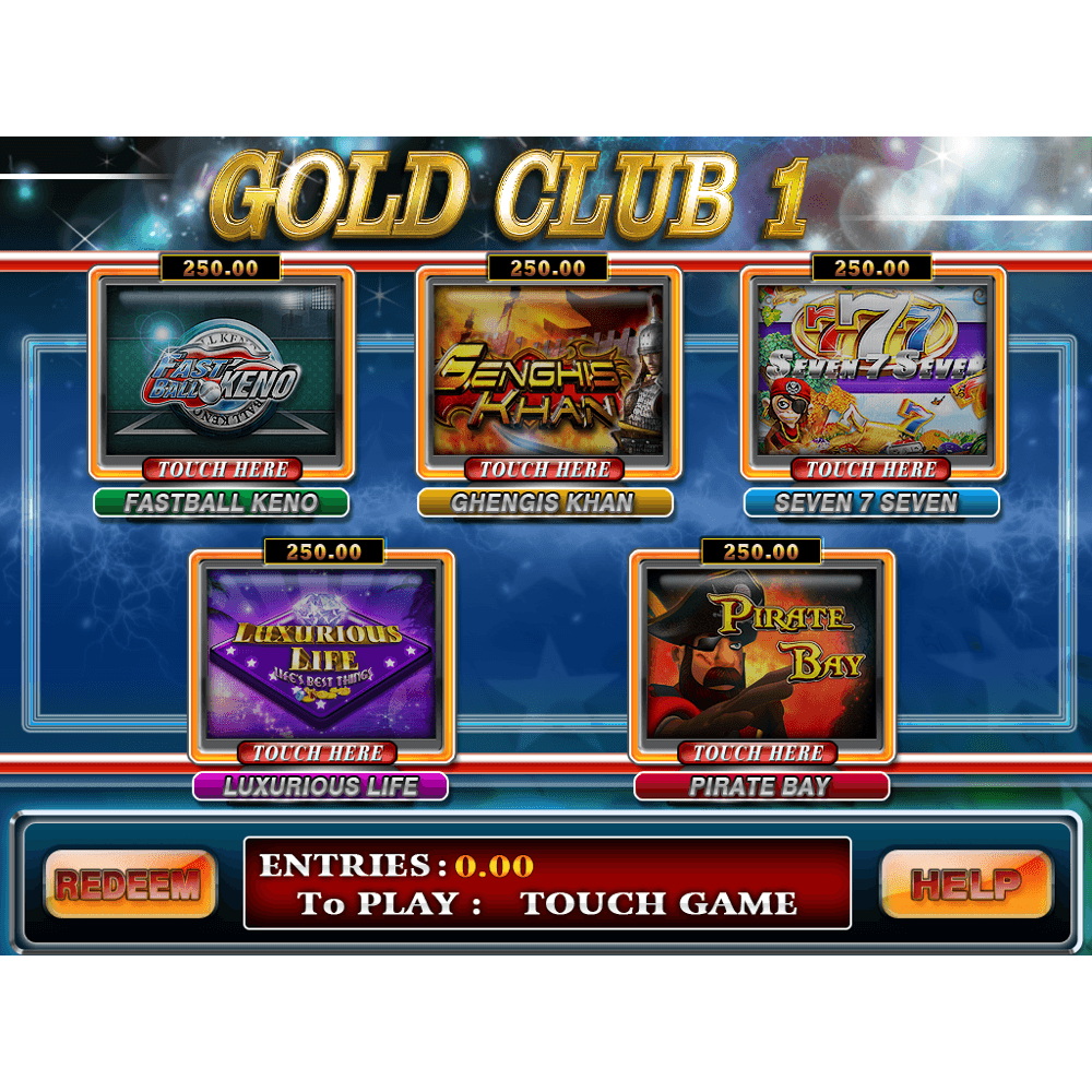 Gold Club 1 Multi Game by Trestle – Dual Screen