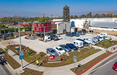 Jack in the Box and Verizon Cell Tower at Zinfandel Crossings in Rancho Cordova