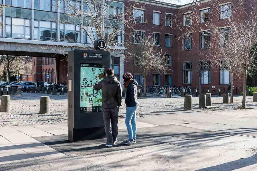 Digital Wayfinding Signs at UoB