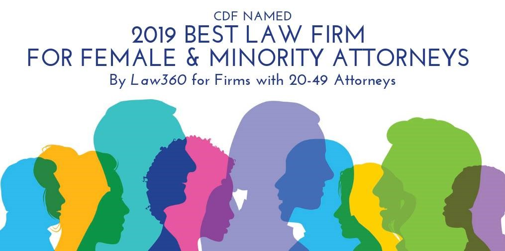 Law360 Top Law Firm for Female and Minority Attorneys