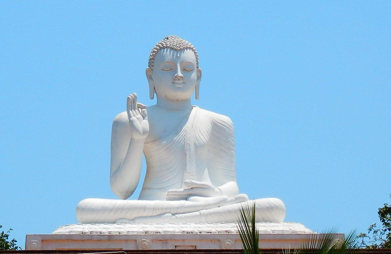 The giant Buddha on Mihintale Mountain