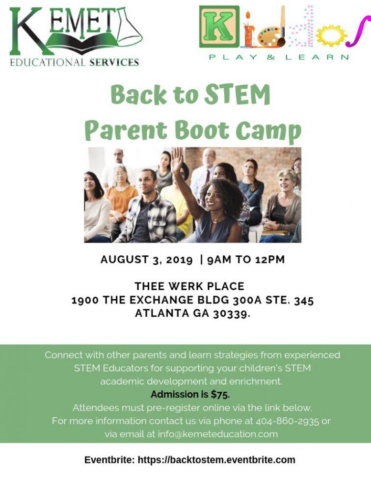 Back to STEM Parent Boot Camp