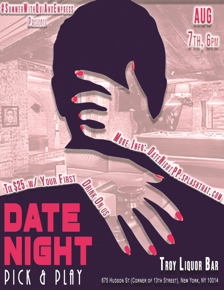 Date Night - Summer with Qui and Empress Flyer