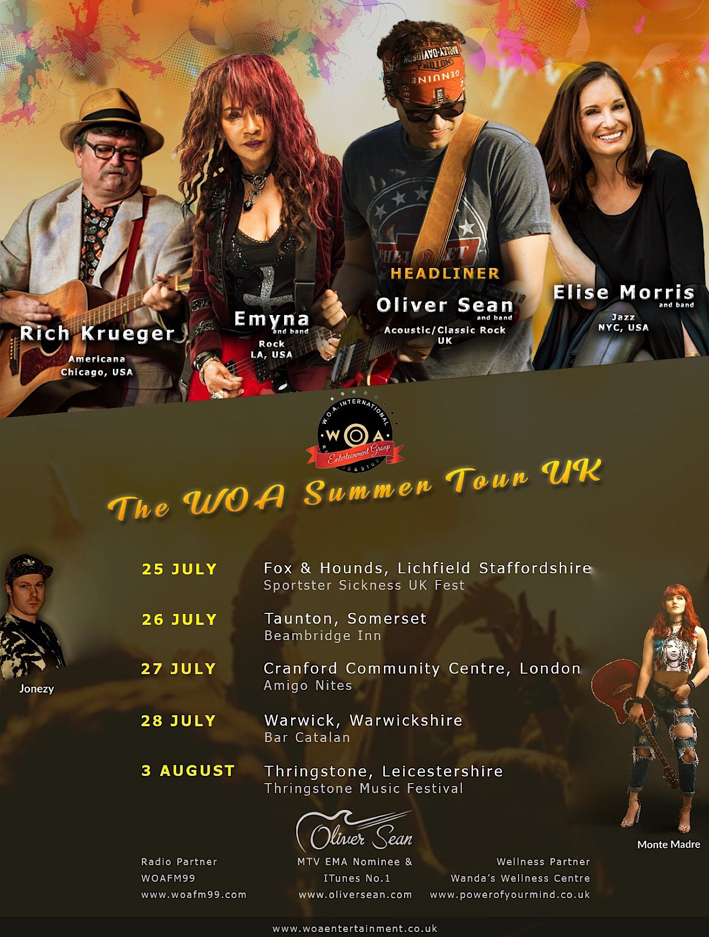 WOA Summer Tour UK 2019