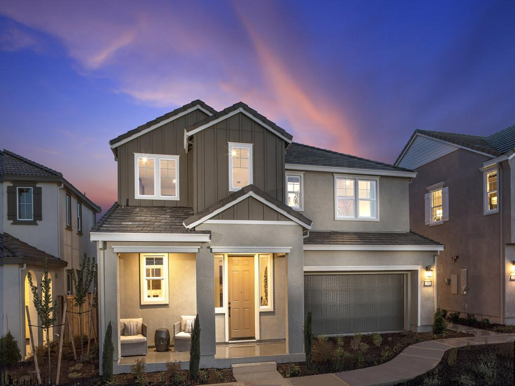 Residence Three at Vantage by Meritage Homes in Tracy Hills.