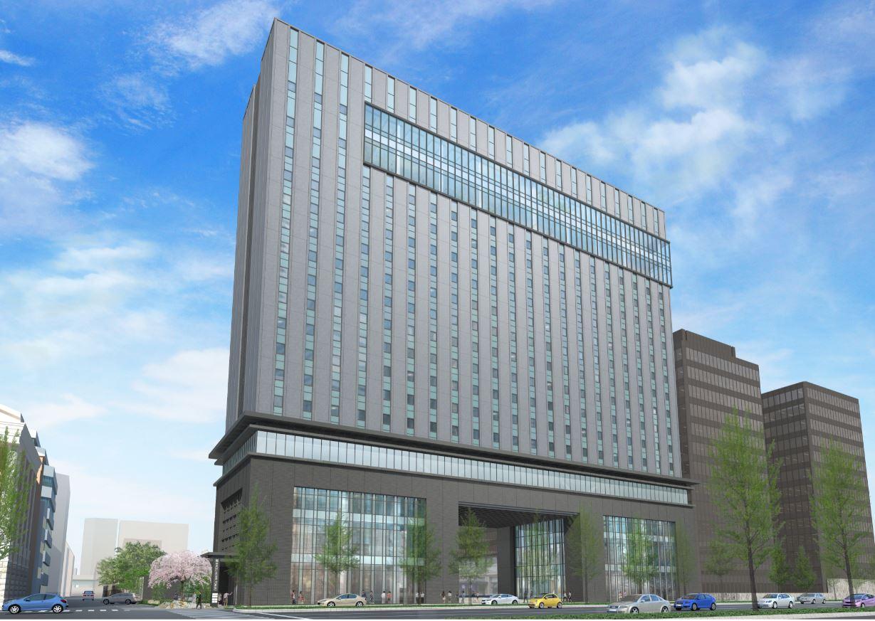 Osaka Excel Tokyu Exterior full building rendering