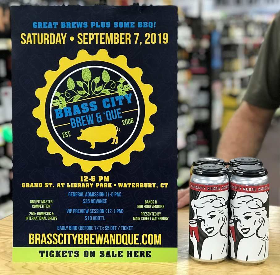 The 2019 Brass City Brew & Que in Waterbury, Conn. will be held Sept. 7