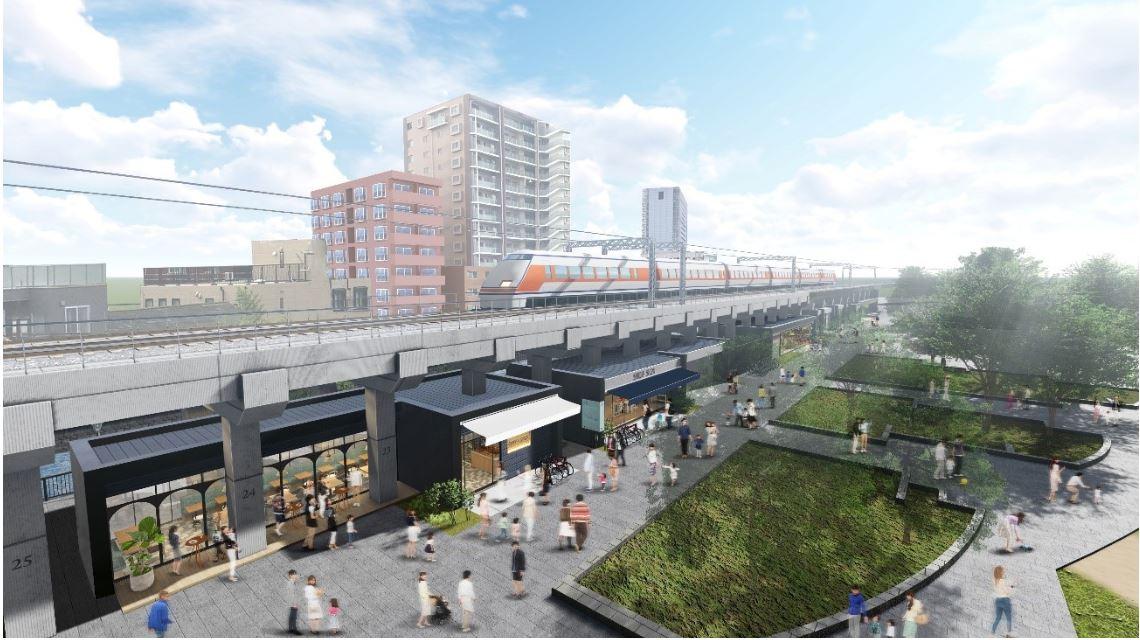 Shopping Complex below Asakusa's Elevated Railway