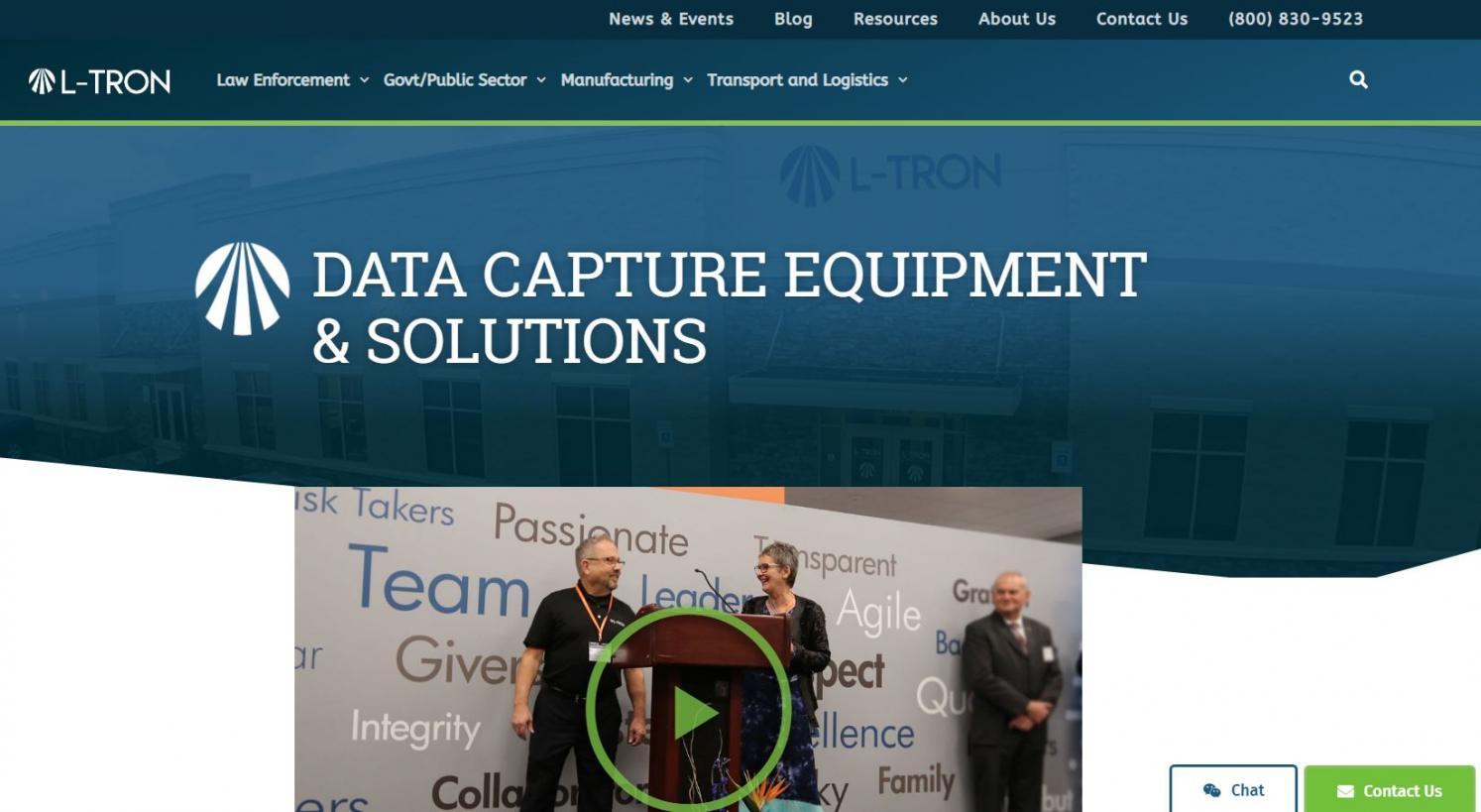 A glimpse at L-Tron's new site.