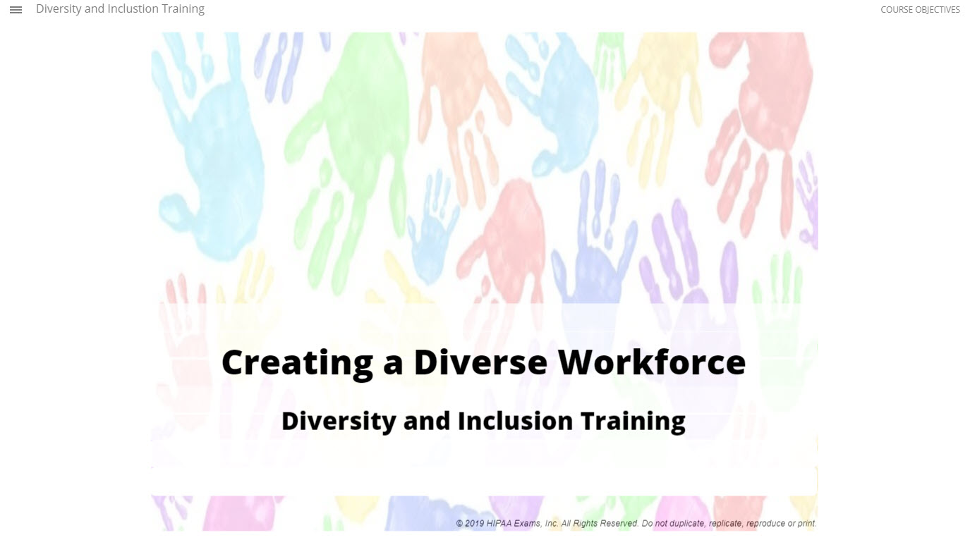 Creating a Diverse and Inclusive Workforce: Diversity and Inclusion Training