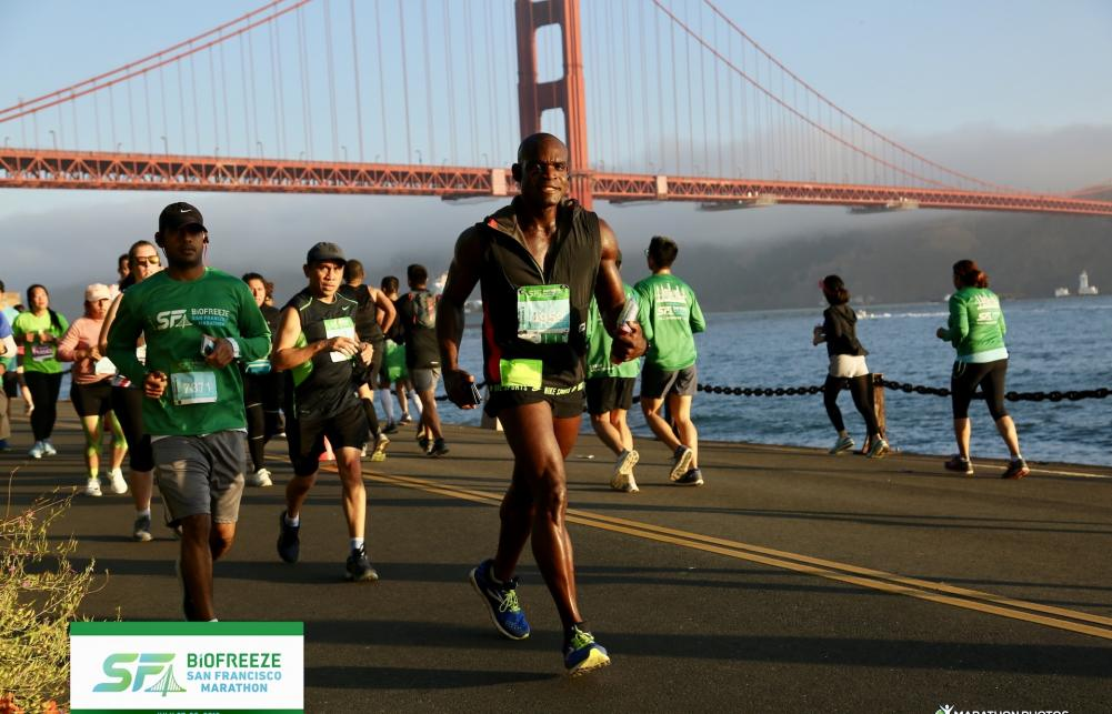 Runners at the San Francisco marathon are pleased to support CBTF.
