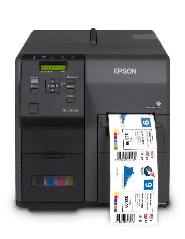 Epson TM-C7500G color coffee label printer