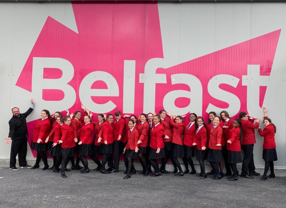 JCC Touring Choir in Belfast, Ireland
