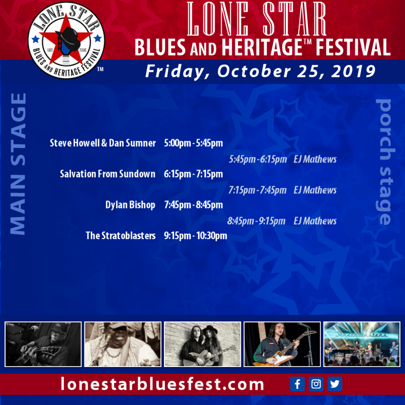Friday, 10/25/19 - Lineup
