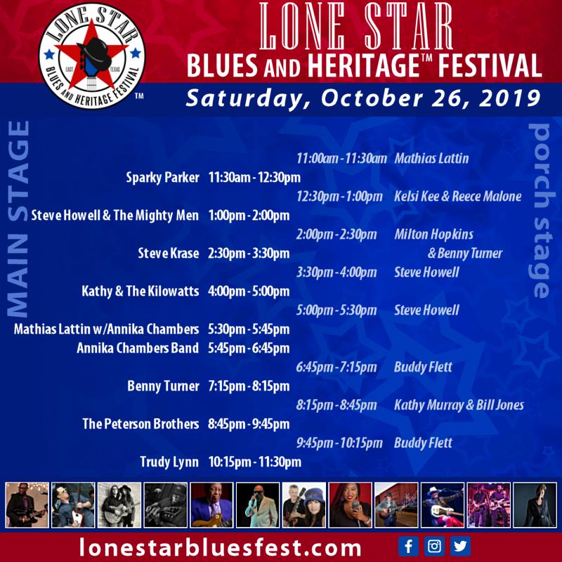 Saturday, 10/26/19 - Lineup