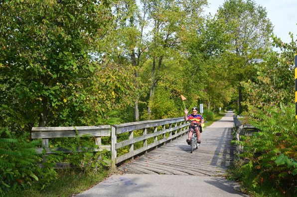 Lifetime Achievement Award Winner Mike Levine on Mike Levine Lakelands Trail