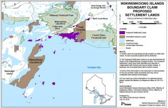 Land claim map