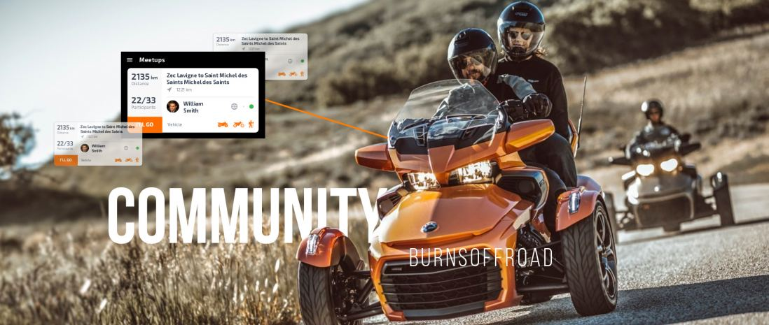 BurnsOffRoad app helps users find other riders to arrange trips together