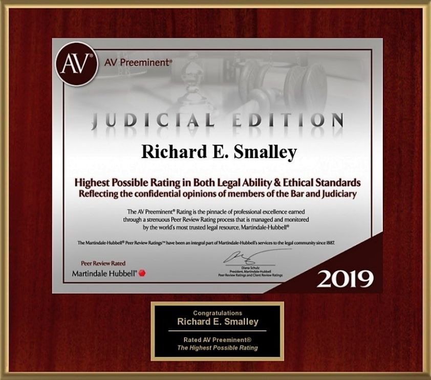 2019 AV Rating Richard E Smalley, attorney in Okla