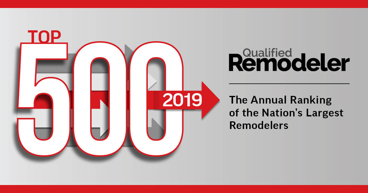 Qualified Remodeler Top 500 2019 Award Logo