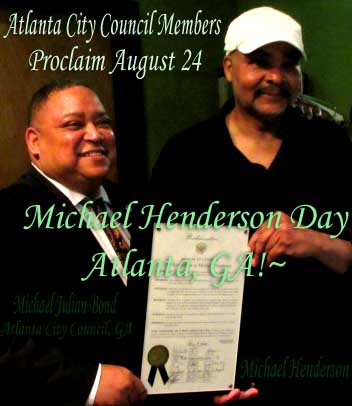 """Michael Henderson accepts """"Proclamation of Recognition"""" Atlanta!"""