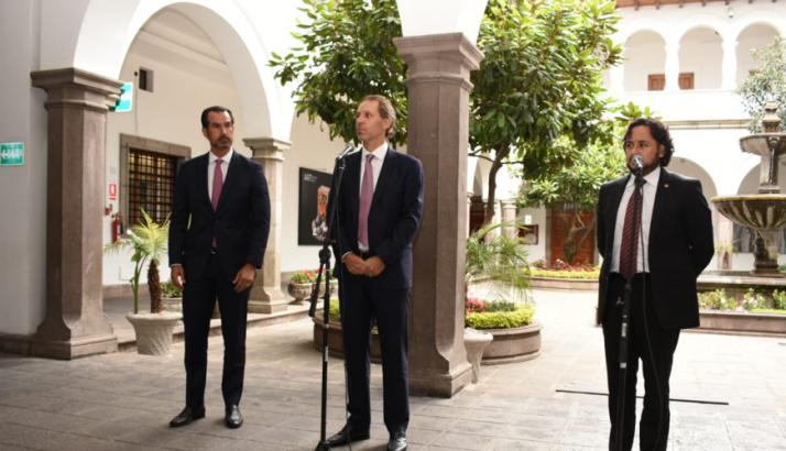 Daniel Hajj, Alfredo Escobar, Andrés Michelena