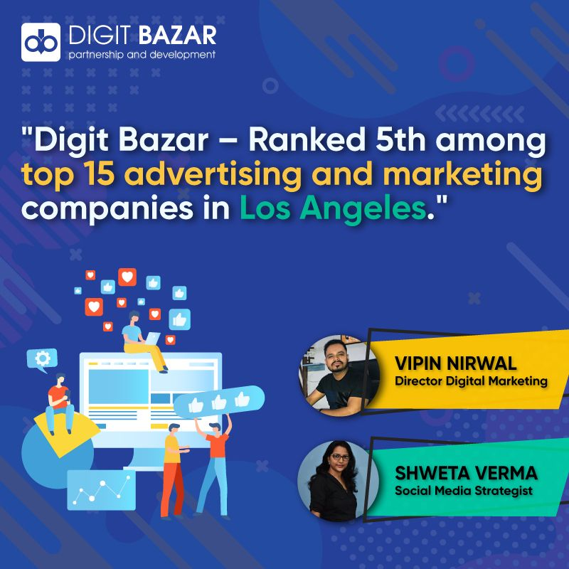 Digit Bazar Ranked 5th among top 15 Advertising and