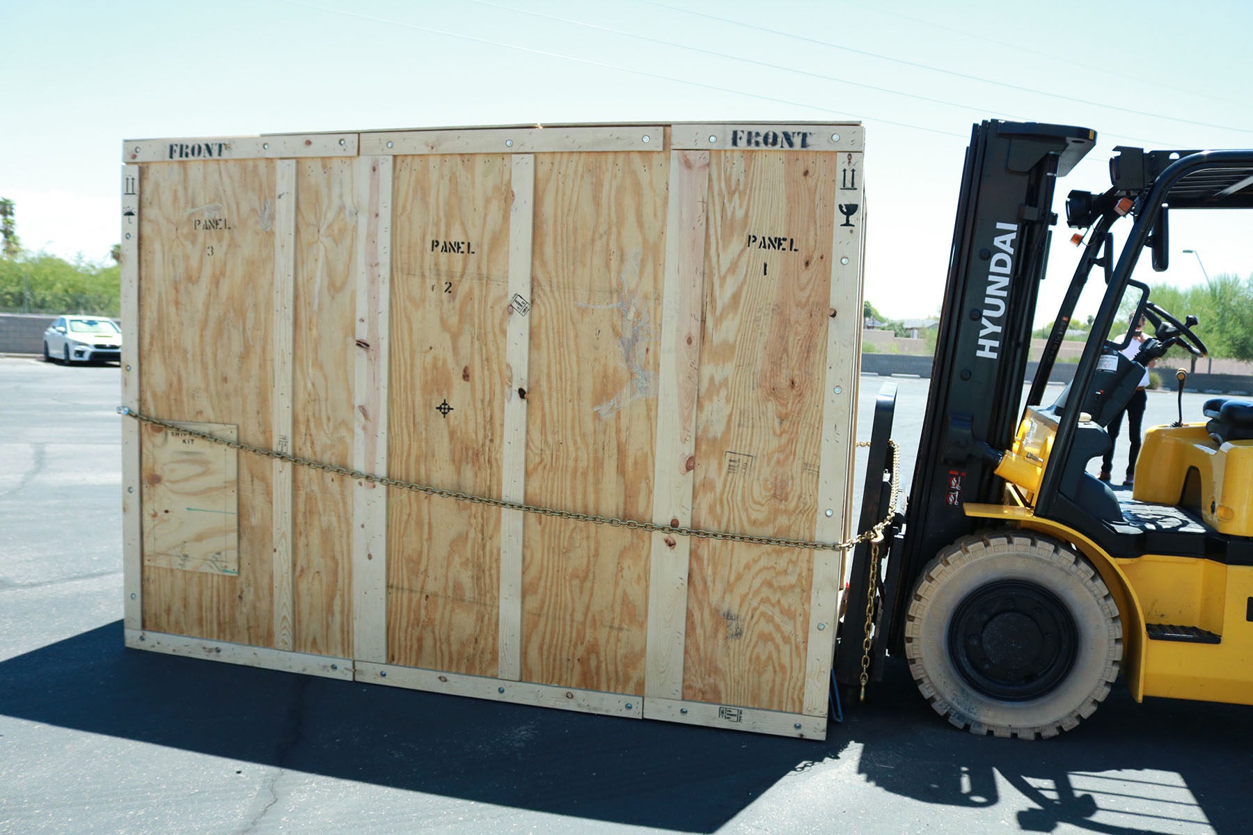 PADT's new F900 Being Delivered in a very big box